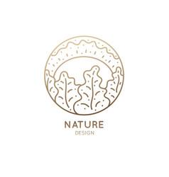 Logo nature sun vector