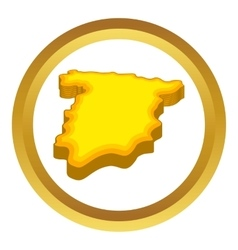 Map of Spain icon vector