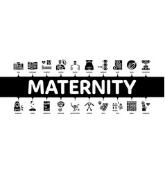 Maternity hospital minimal infographic banner vector