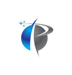 modern logo solutions letter p vector image