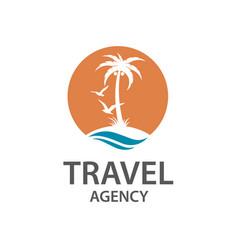 Palm beach icon vector