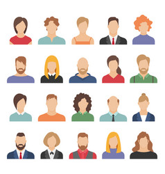 people business avatars team avatars working vector image