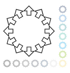 Radial arrows icon vector