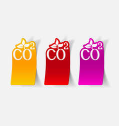 Realistic design element co2 sign dioxide vector