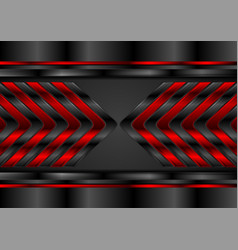 Red and black glossy arrows abstract tech vector