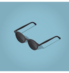 Retro dark sunglasses vector