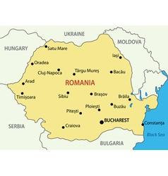Romania - map vector