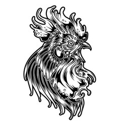 Rooster fighting thailand chicken 1 vector