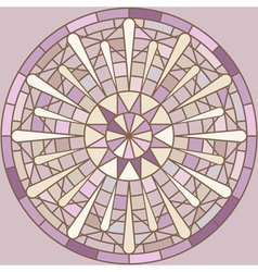 Round mosaic ornament vector