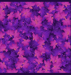 seamless background design with purple leaves vector image