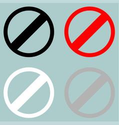 Sign prohibiton interdiction ban vector