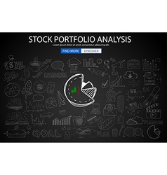 sketch3 concept stockportfolioanalysis vector image