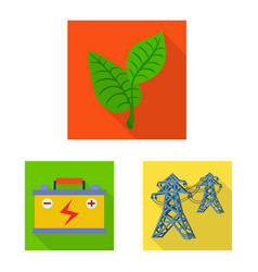 Solar and panel icon vector