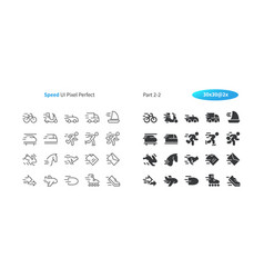 Speed ui pixel perfect well-crafted thin vector
