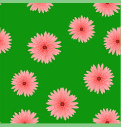 spring red flower seamless pattern vector image