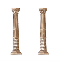 Stylized greek doodle column doric ionic vector