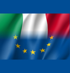 symbol italy is eu member vector image