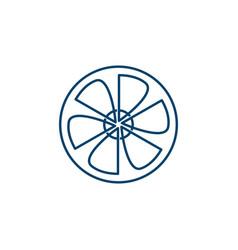 wind turbine logo design template vector image