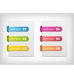 colorful stickers with arrows and numbers vector image vector image