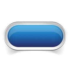 Empty blue button vector image vector image