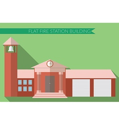 Flat design modern of fire station building icon vector image vector image