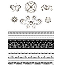 Ornaments and borders for page design vector image vector image
