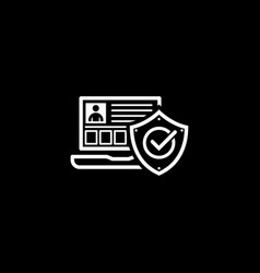 personal security icon flat design vector image vector image