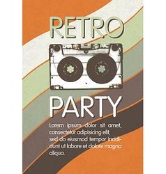 Retro music party poster design Disco music vector image vector image