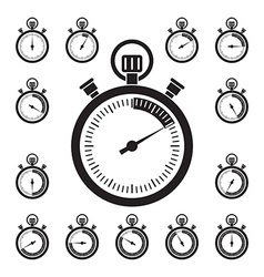 Set of stopwatch icons vector image vector image