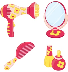 Toys set hairdresser vector image