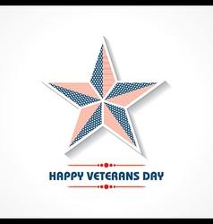 Creative veterans Day Greeting stock vector image