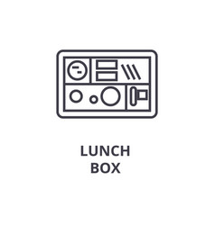 lunch box line icon outline sign linear symbol vector image