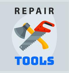 repair tools hammer trowel icon creative graphic vector image