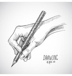 Sketch hand pencil vector