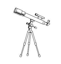telescope object coloring book vector image