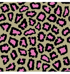 Leopard seamless background with pink spots vector