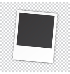 Retro blank photography vector image