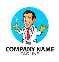 Scientist Cartoon Logo vector image vector image