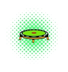 Small fitness trampolin icon comics style vector image vector image