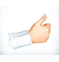 Thumb up icon vector image
