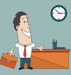 Young and successful business man cartoon vector image