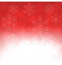 Christmas card with glowing snowflakes vector image vector image