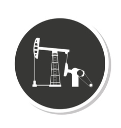 drilling industry oil plant vector image