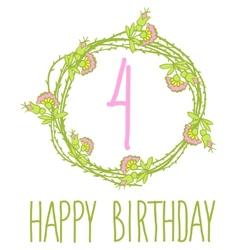 Happy birthday card invitation with Set vector image