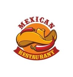 Mexican restaurant icon emblem vector