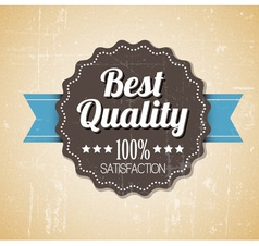 quality retro label blue dots vector image vector image
