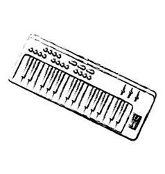 synthesizer audio device icon vector image vector image