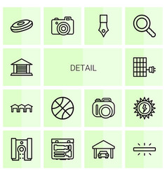 14 detail icons vector image