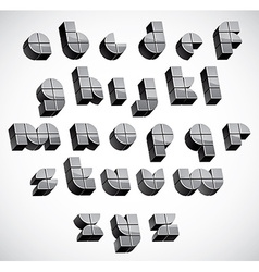 3d futuristic font made with boxes vector image