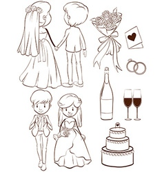 A wedding vector image